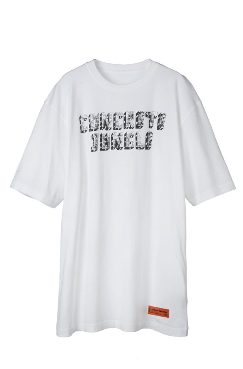 HERON PRESTON HERON CONCRETE WHITE BLUE  SS T-SHIRT