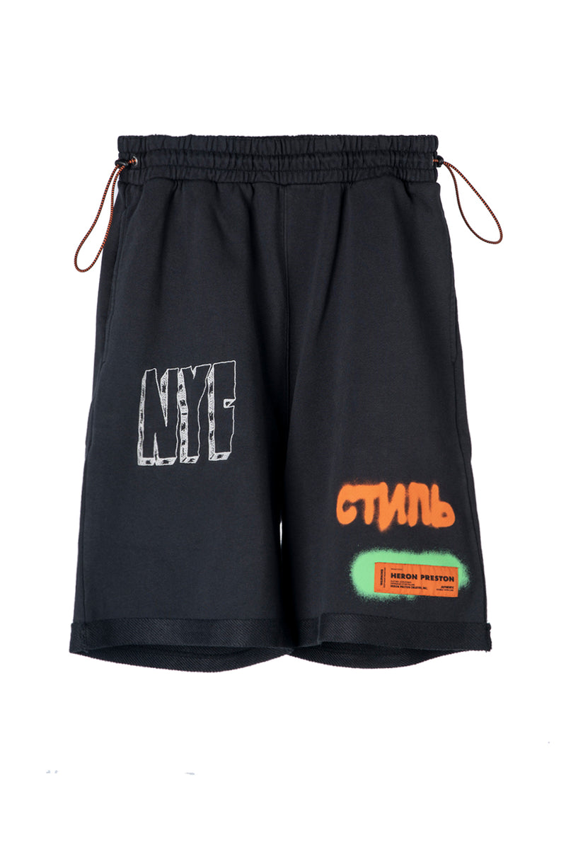 HERON PRESTON FLEECE SHORTS CTNMB SPRAY BLACK WHITE SHORT