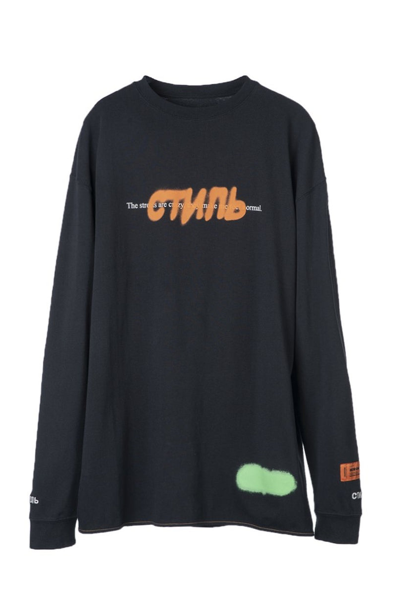 HERON PRESTON CTNMB SPRAY ICE GREY MULT REG LS T-SHIRT