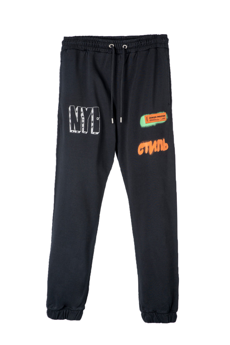 HERON PRESTON SWEATPANTS CTNMB SPRAY PACK BLACK ORANGE PANTS