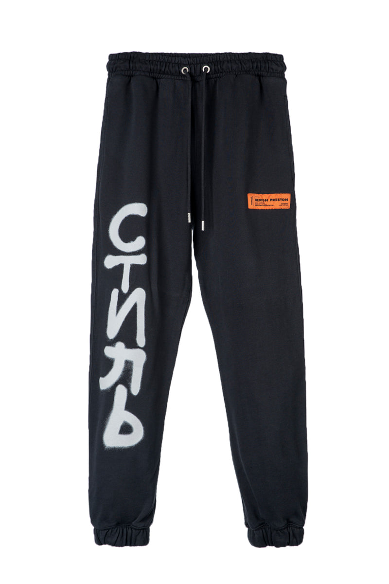 HERON PRESTON SHORT LEG CTNMB SPRAY VERT BLACK WHITE PANTS