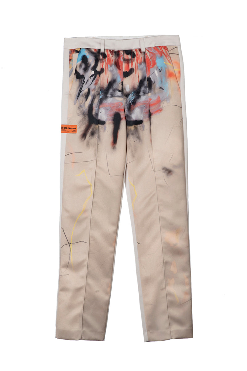 HERON PRESTON TAILORED PANTS ROBERT NAVA SAND MULTICOL PANTS