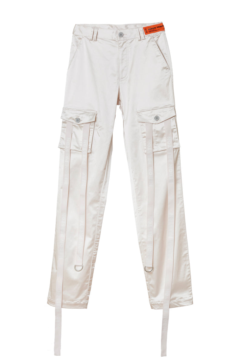 HERON PRESTON SATIN STRAP CARGO PANTS