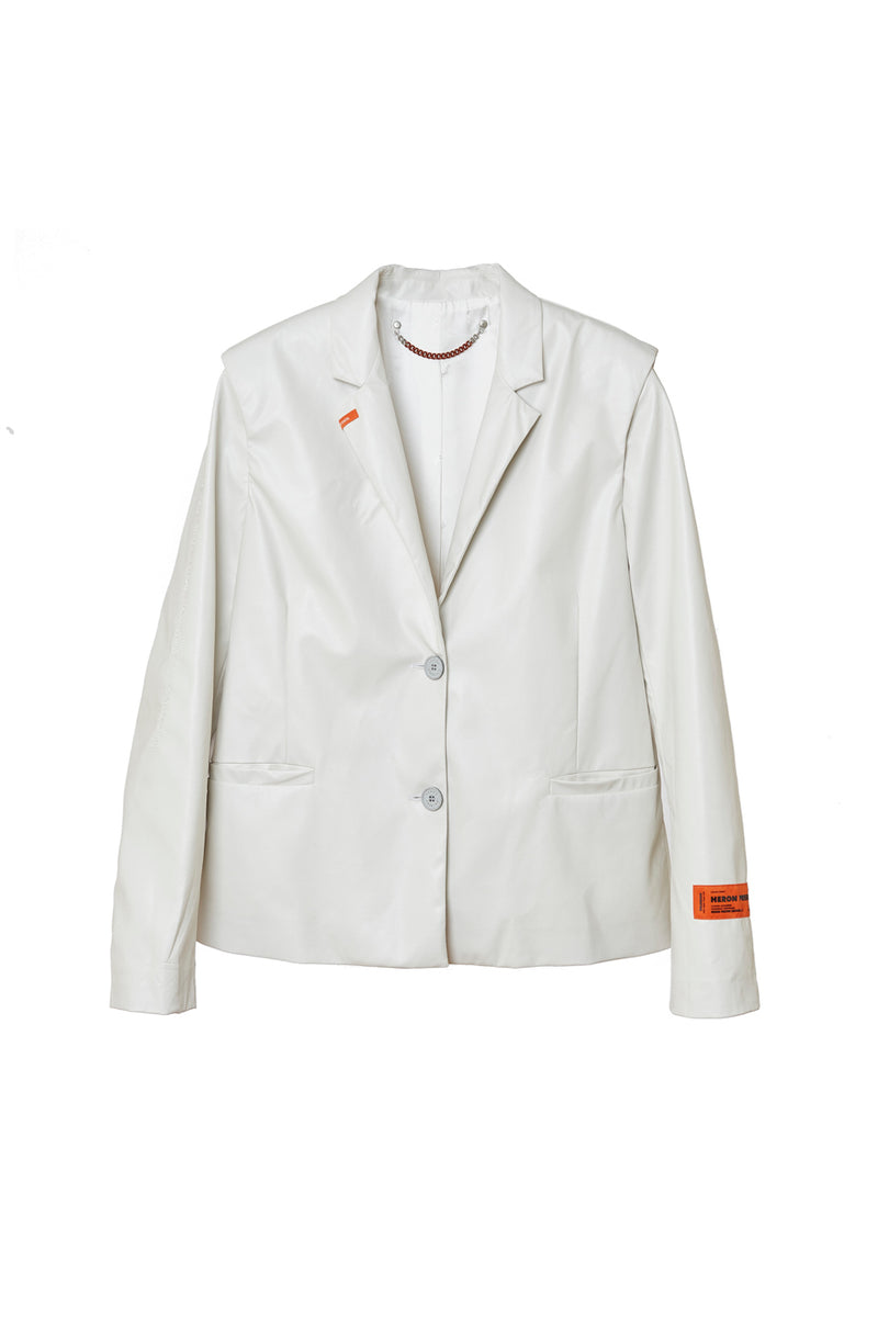 HERON PRESTON VEGAN LEATHER BLAZER OUTERWEAR