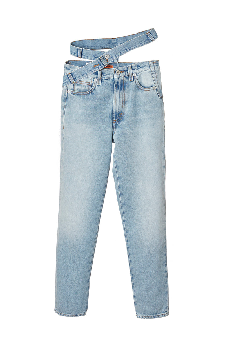 HERON PRESTON X SAMI MIRO REWORKED DENIM PANTS