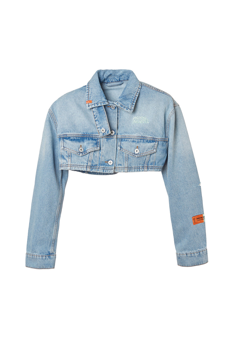 HERON PRESTON  SAMI MIRO VINTAGE WASH CROP DENIM JACKET OUTERWEAR