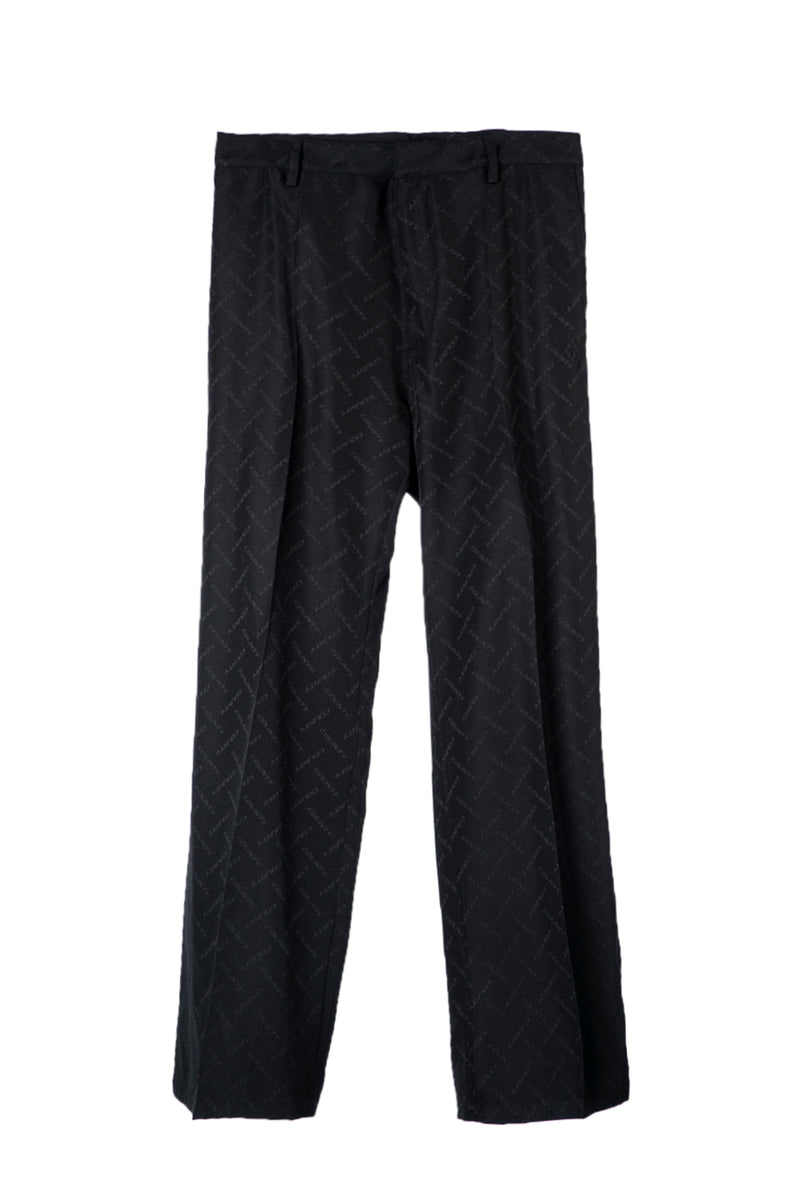 MARCELO BURLON  BLACK ALL OVER COUNTY WIDE LEG PANT