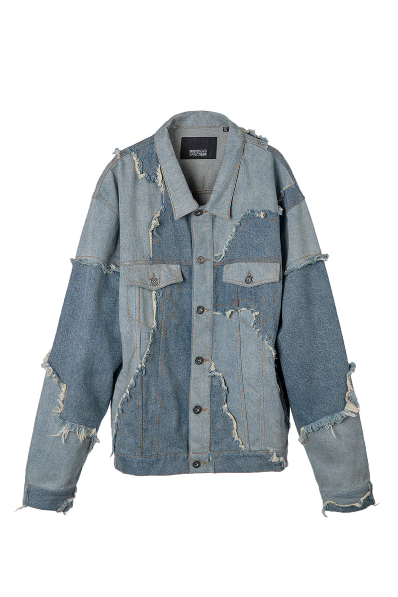 MOSTLY HEARD RARELY SEEN CUT ME UP DENIM JACKET
