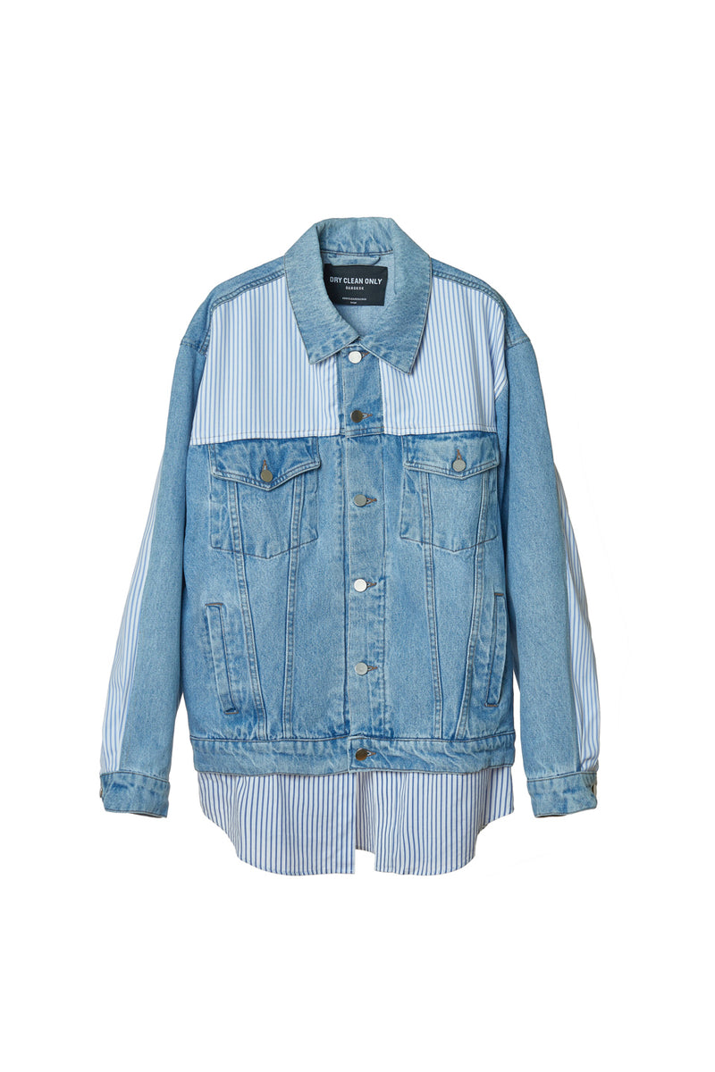 DRY CLEAN ONLY FRANCESCO BLUE JACKET