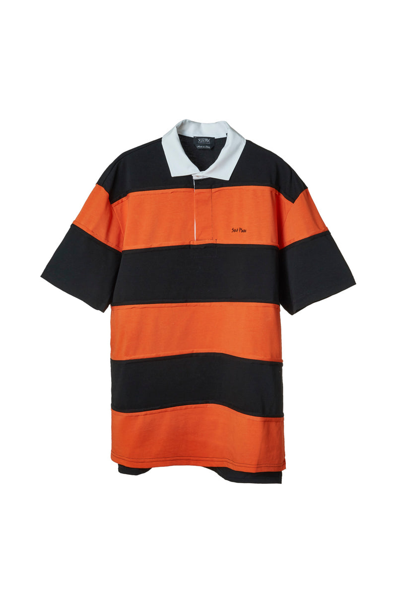 SELF MADE INTARSIA STRIPED POLO SHIRT