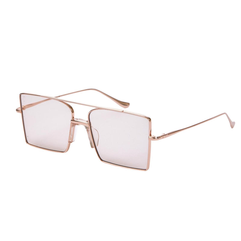 FIXXATIVE 'belem' Metal Oversized Square Aviator Sunglasses