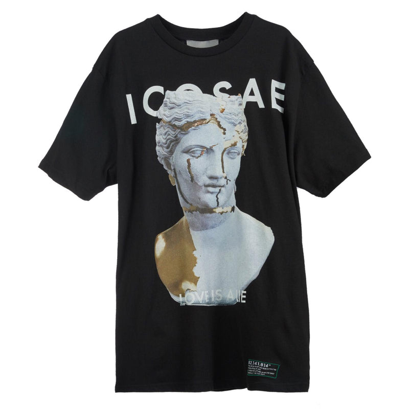 ICOSAE Love is a Lie Statue Print T-shirt