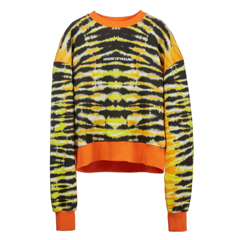 HOUSE OF HOLLAND Animal Tie Dye Sweatshirt