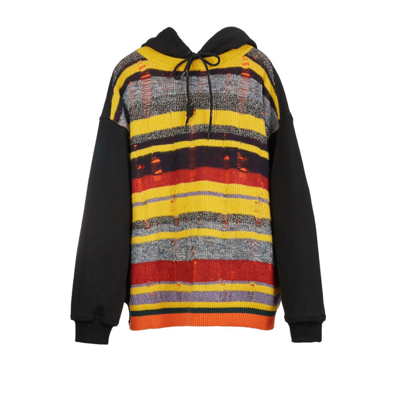 ANGEL CHEN Knitted Multi-color Stripe Hoodie