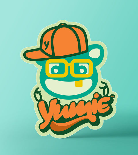 Yumie brand classic hip hop rap music sticker