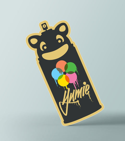 Yumie brand spraycan paint tag it sticker