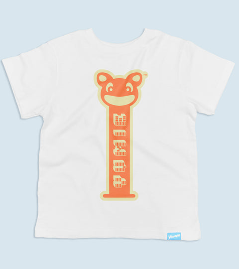 Childs white t-shirt with yumie brand sugar rush design