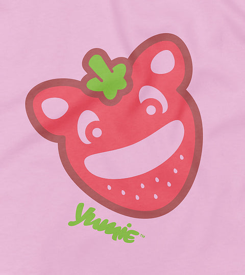 Young kids pink t-shirt with yumie that's my jam design