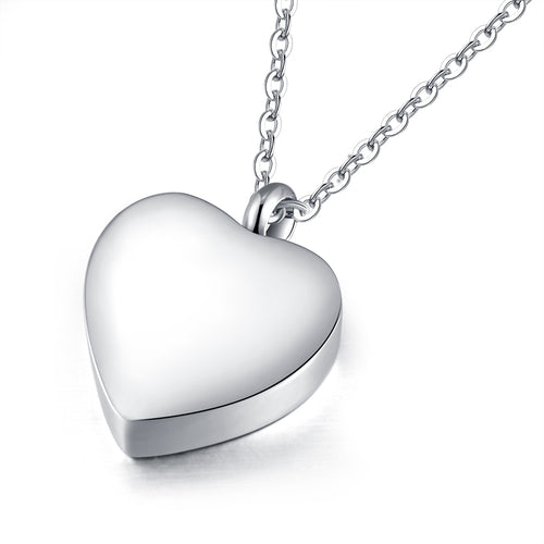 10pcs Engraved heart Keepsake Ashes Necklace Urn Pendant Cremation Memorial Necklaces