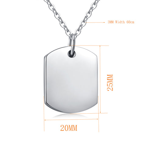 10pcs Engraved Keepsake Ashes Necklace Urn Pendant Cremation Memorial Jewelry W/Chain