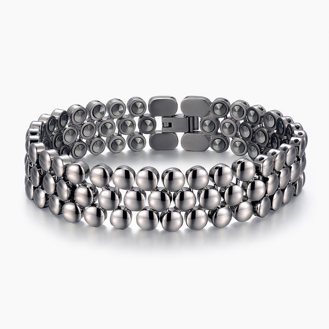 99.9999% Germanium beads Pure Titanium Healthy Therapy Bracelet for Man