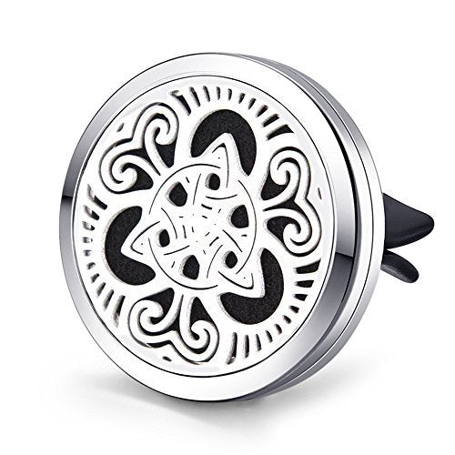 Air Freshener Diffuser Aromatherapy Essential Oil Car Vent Clip Celtic Knots
