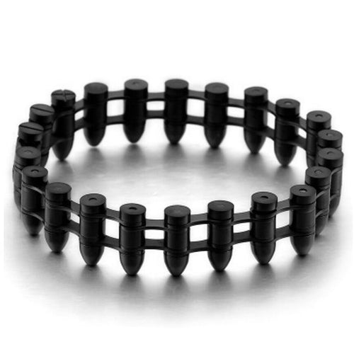 Black Color Vintage Man's Bullet Bracelet