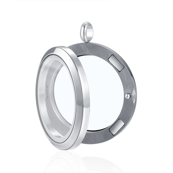 Mesinya Magnet Closure Floating Charm Glass Locket