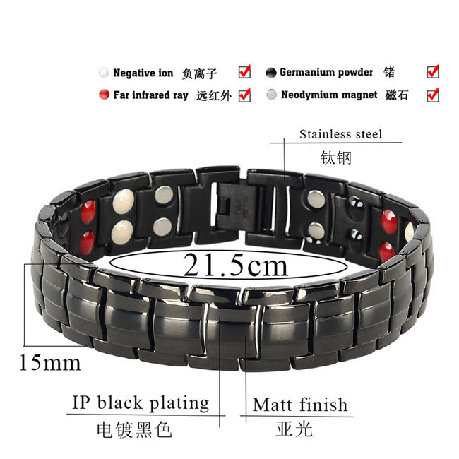 Mesinya Men Health Magnetic Germanium Healthy Energy Therapy Bracelet