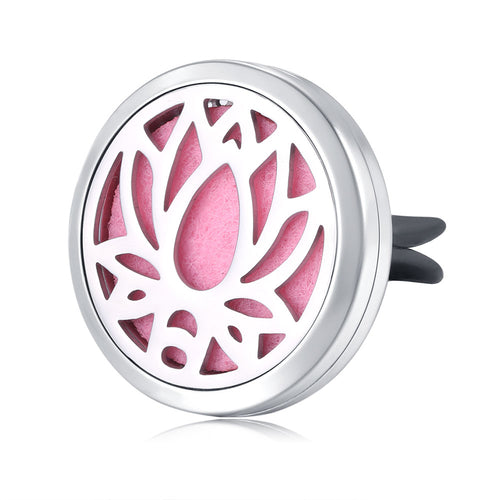 Air Freshener Diffuser Essential Oil Car Vent Clip Diffuser Lockets (Yoga Lotus Flower)