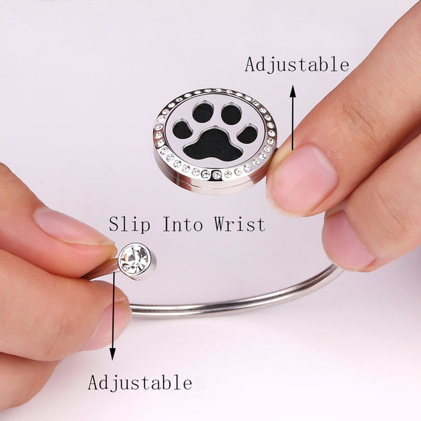 Mesinya Adjustable Essential Oil Diffuser Bracelet Locket Bangle (Believe 1'')