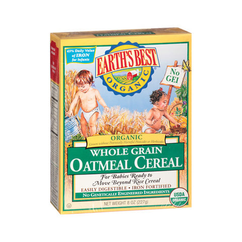Organic Whole Grain Oatmeal Cereal (227g)
