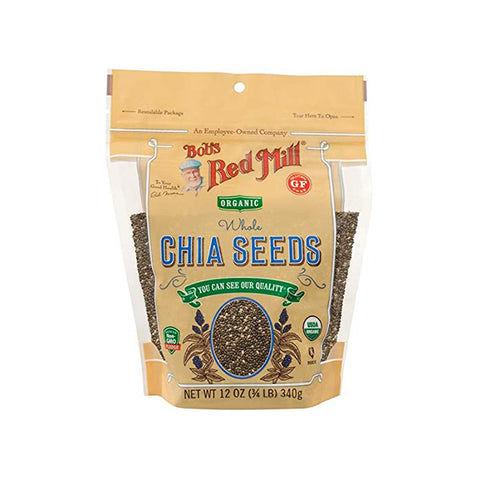 Organic Gluten Free Whole Chia Seeds (340g)