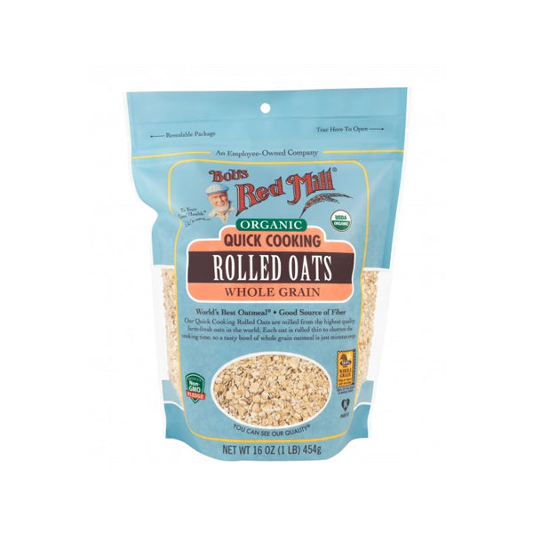 Organic Quick Cooking Rolled Oats (454g)