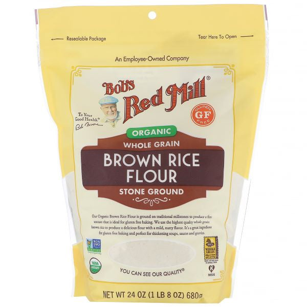 Organic Gluten Free Brown Rice Flour (680g)