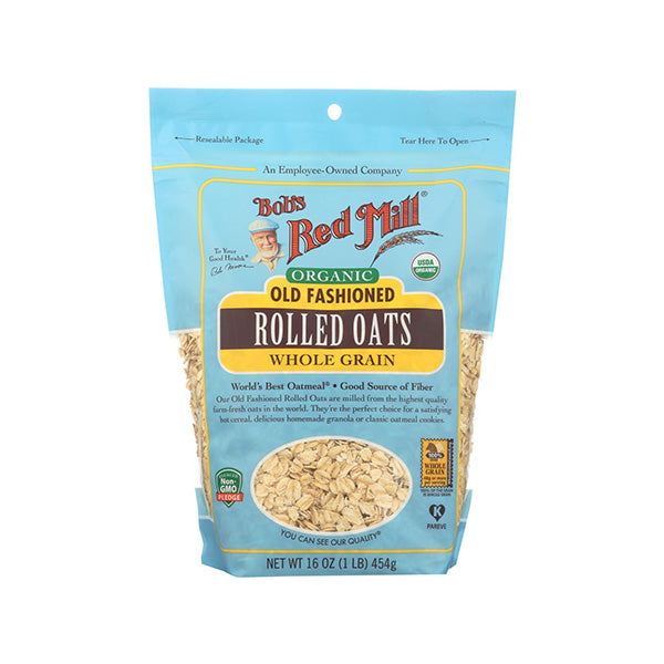 Organic Old Fashioned Rolled Oats (454g)