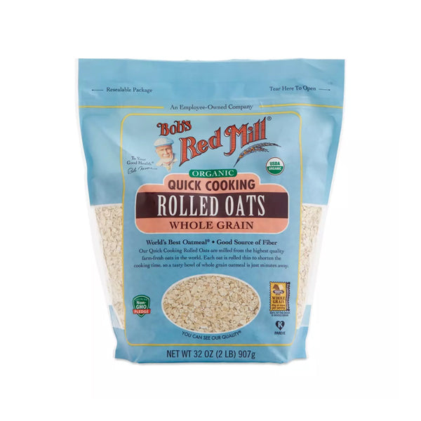 Organic Quick Cooking Rolled Oats (907g)