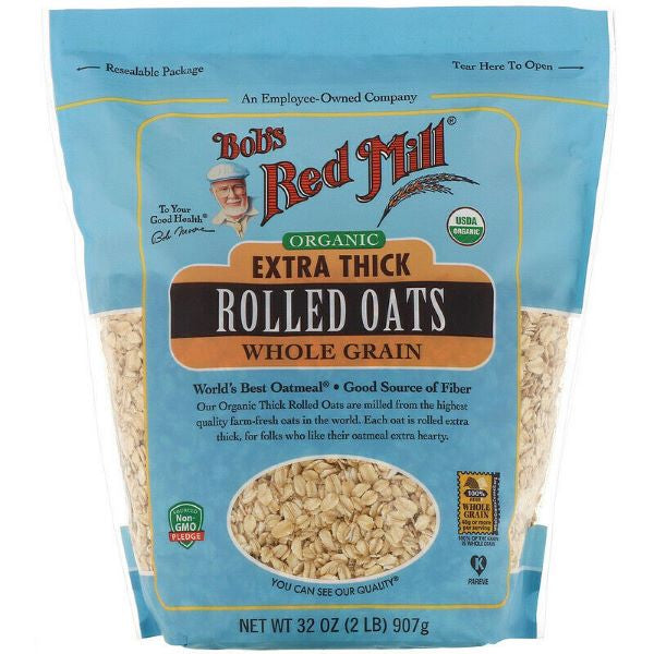 Organic Extra Thick Rolled Oats (907g)