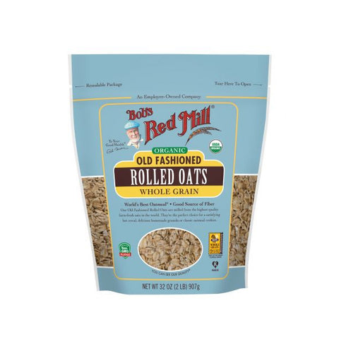 Organic Old Fashioned Rolled Oats (907g)