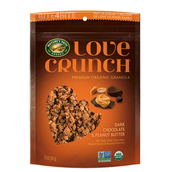 Organic Love Crunch Dark Chocolate & Peanut Butter Granola (325g)