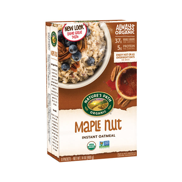 Organic Maple Nut Hot Oatmeal (400g)