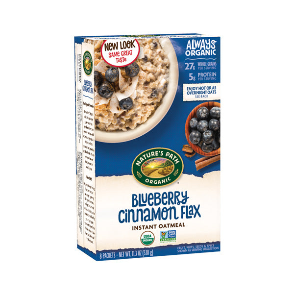 Organic Optimum Power Blueberry Cinnamon Flax Hot Oatmeal (320g)