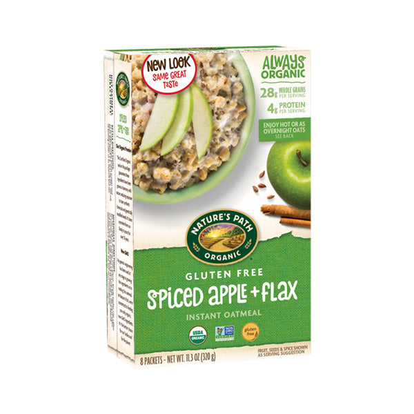 Organic Gluten Free Spiced Apple Flax Hot Oatmeal (320g)