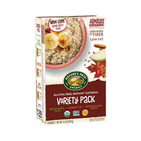 Organic Gluten Free Variety Pack Hot Oatmeal (320g)