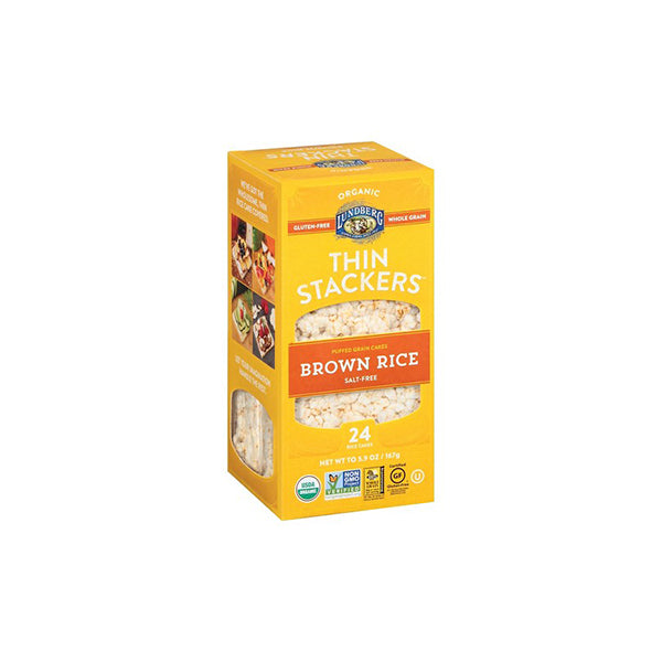 Brown Rice Cake Thin Stackers Salt Free (167g)