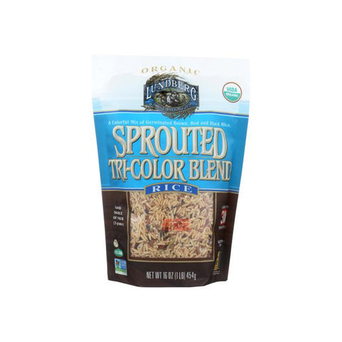 Organic Tri Color Sprouted Brown Basmati Rice (454g)