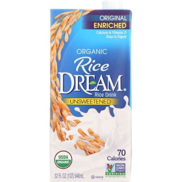 Organic Enriched Unsweetened Rice Drink  ( 946ml )