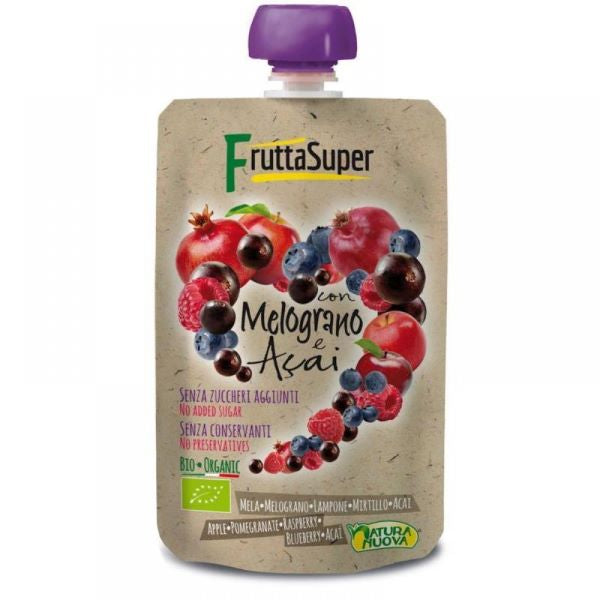 Organic Apple Raspberry Pomegranate Acai Puree (100g)