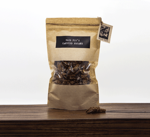 BLUE FIG DELIGHTS:  Candied Pecans