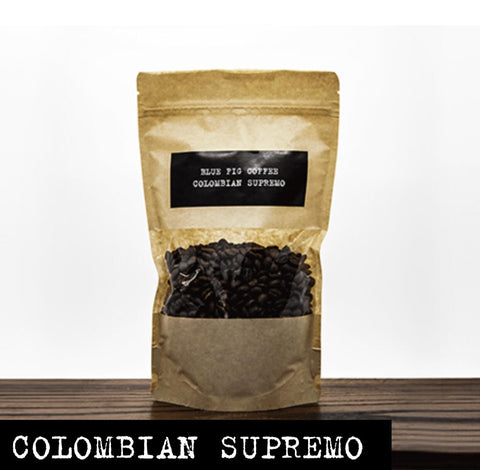 BLUE FIG GOURMET COFFEE :  Colombian Supremo